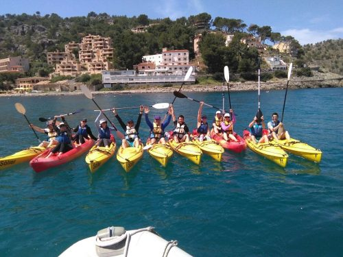 Kayaking group Mallorca