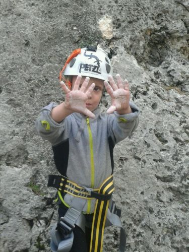Kids climbing Mallorca