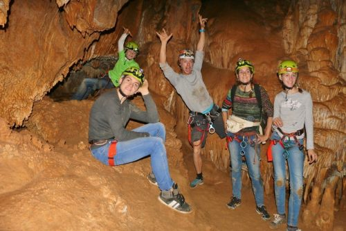 Caving with family tours