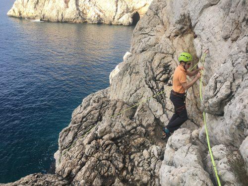 Climbing a long the coast line