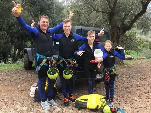 Family canyoning tours
