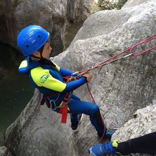 Kids canyoning
