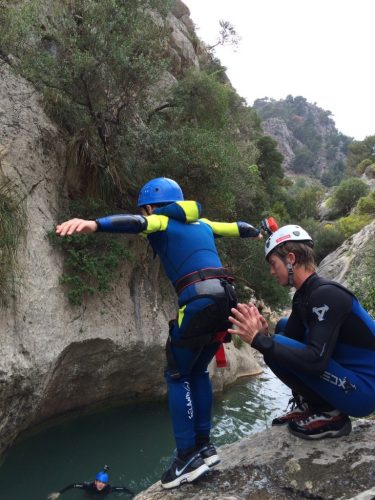 Kids canyoning in mallorca
