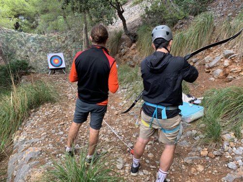 Archery games in the Tramuntana