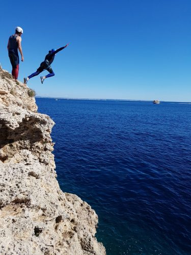 Coast challenge Cliff jump