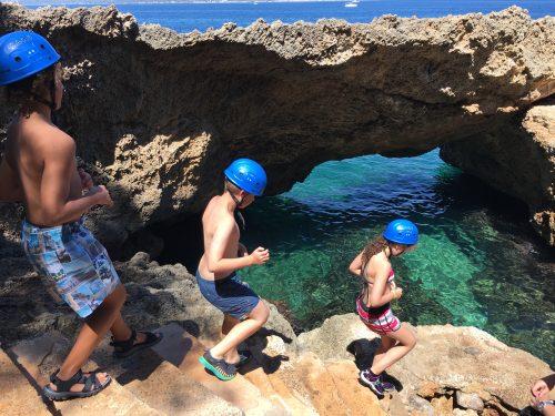 Coasteering exploring