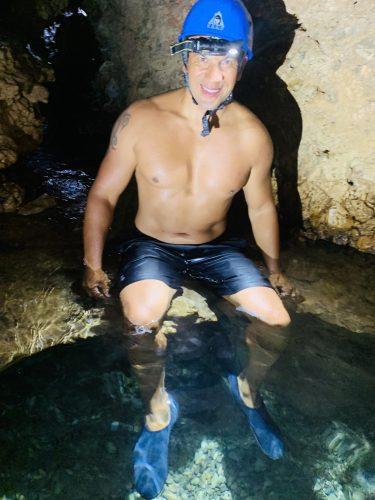 Coasteering sea caves