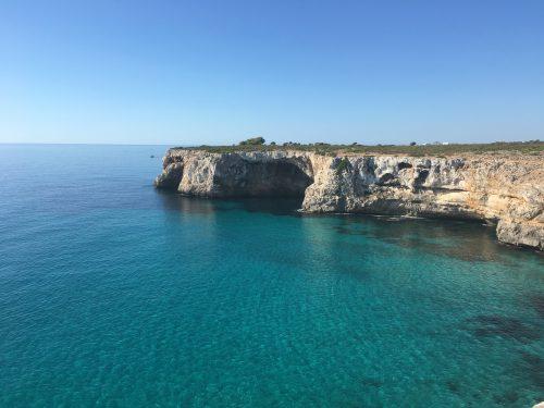 Deep water soloing cliffs