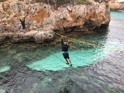 Hanging bridge in mallorca
