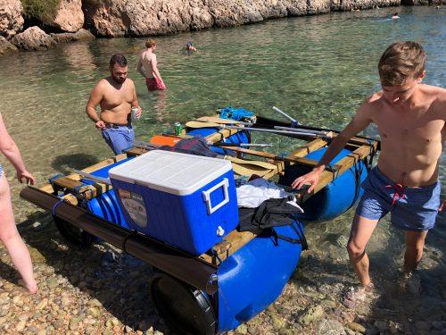 Team building Mallorca Sea raft
