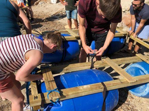 Team building sea raft Mallorca